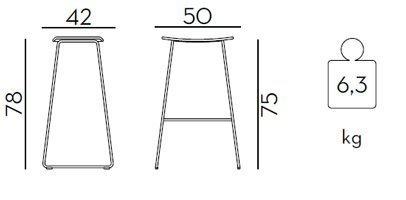 Medidas taburete Tao de 78