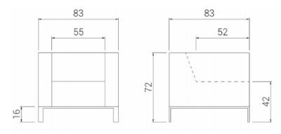 Medidas sofá Quatro 1 plaza