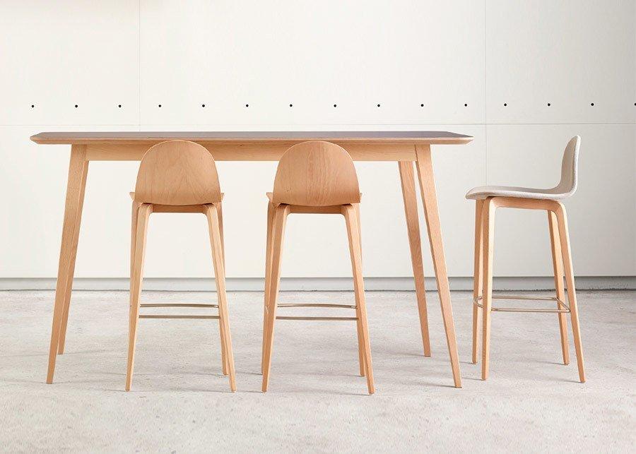 Mesas altas para zonas de reunión