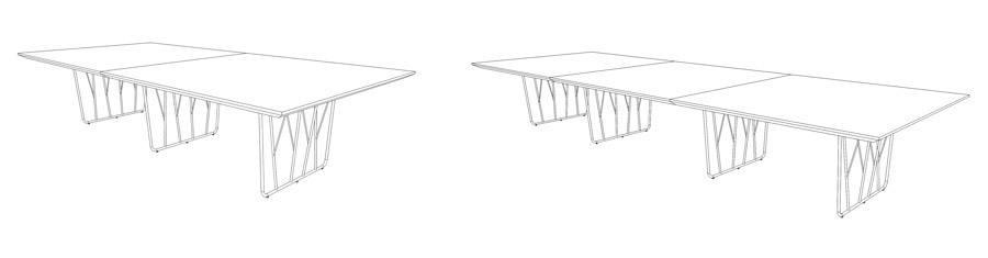 Mesa Reunión Deck Laminada 160