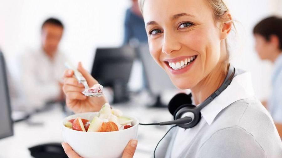 Oficina saludable y la alimentación