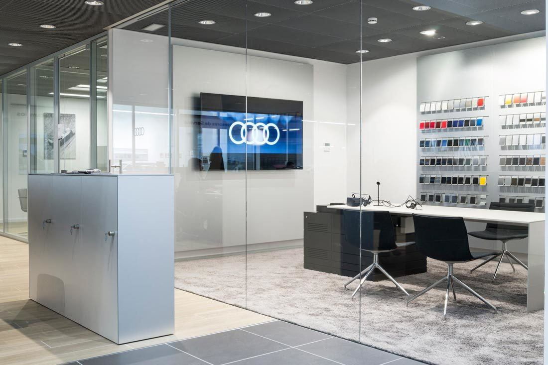 instalaciones audi marza castellon despacho venta mobiliario ofival