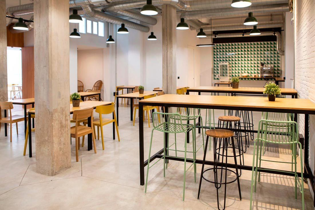 Interior cafetería Wayco coworking Ruzafa