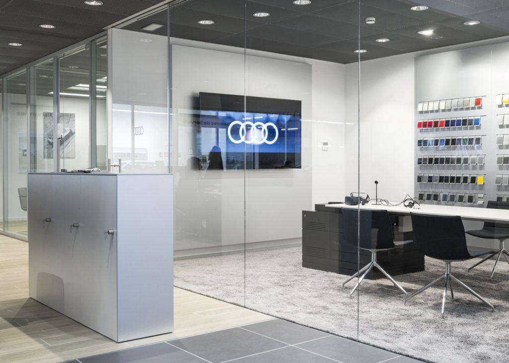 mampara sistema vo 1 vidrio Audi Marza
