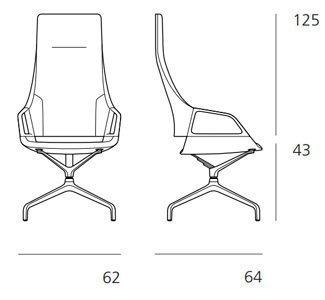 Medidas sillón Graph de conferencias