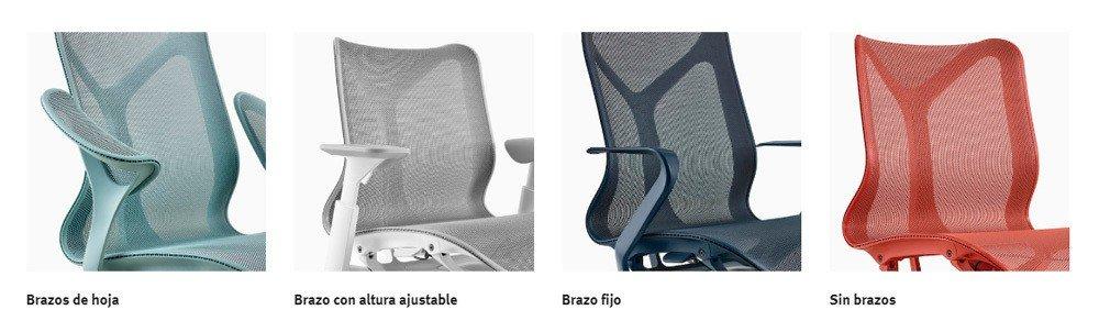 opciones de brazos silla cosm