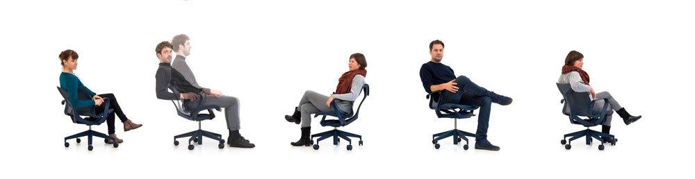 Opciones de sentado de la silla Cosm