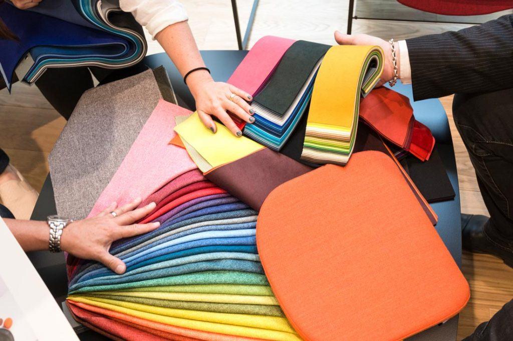 Textil en el mobiliario de oficina