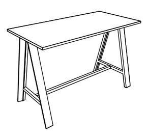 Medidas mesa auxiliar alta Eco