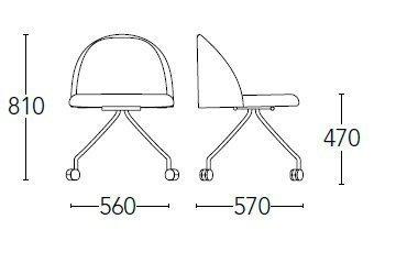 Medidas silla chelsea 7004CR