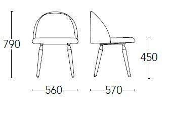 Medidas silla chelsea 700FPM