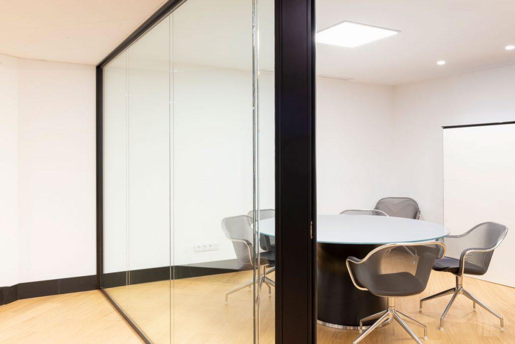 mampara F2 2 vidrios instalaciones estudio zyx