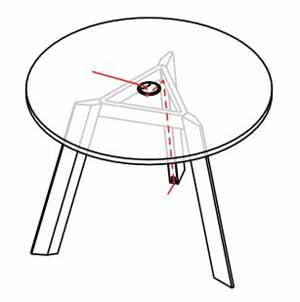 electrificación mesa ECO redonda