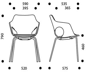 medidas silla olé tapizada Xp
