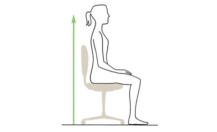 Sentarse bien en la silla