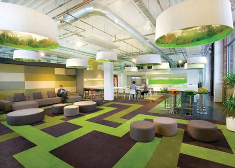 Moqueta colorida minimalista dise o oficina mueble silla for Mobiliario de oficina minimalista