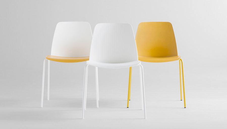 siSIlla Unnia para colectividades amarillo y blanco