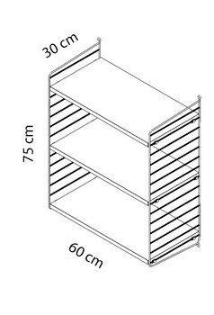 Medidas estantería STRING 60