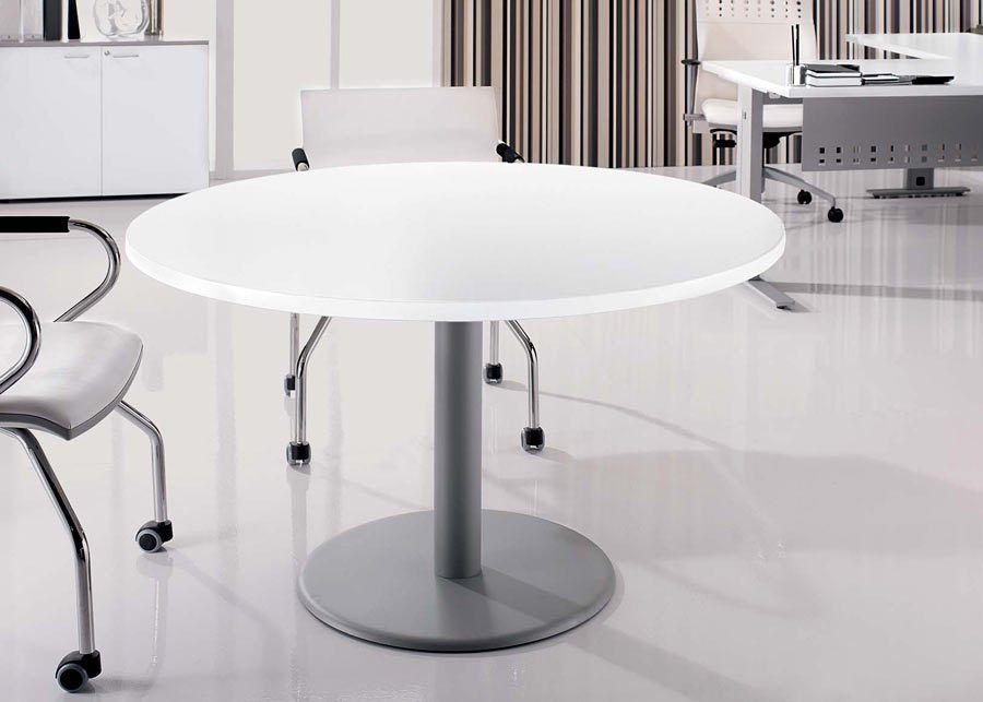 Mesa reuni n redonda ofival equipamiento de oficina for Mesa de reuniones