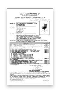 Certificado Silla Task