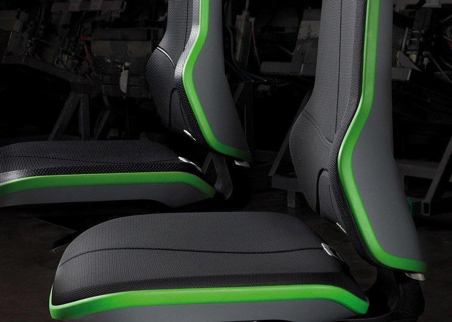 silla neon operativa detalle del asiento