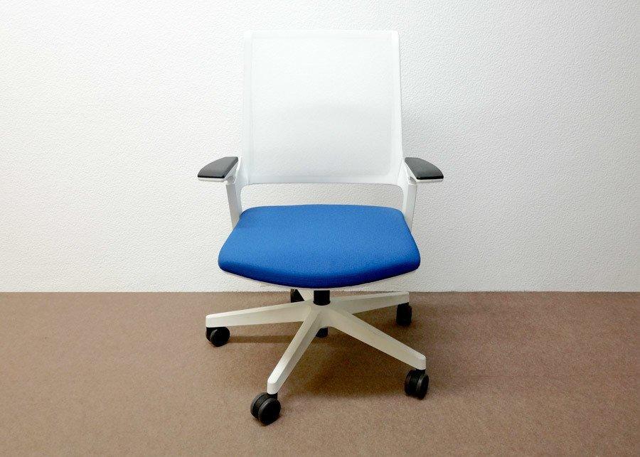 Silla movyis3 operativa azul outlet ofival equipamiento for Outlet sillas de oficina