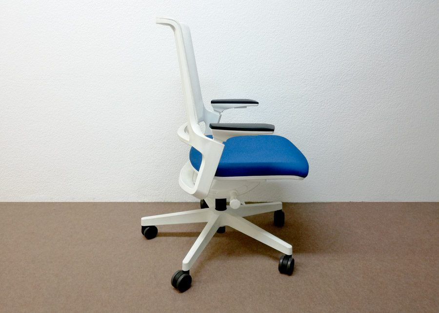 Silla Movyis3 14M3 Outlet Blanca Azul lateral