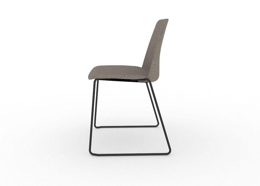 silla unnia tapiz negro lateral