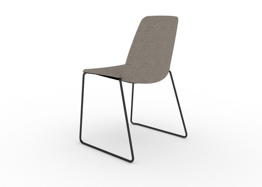 silla unnia tapiz negro trasera