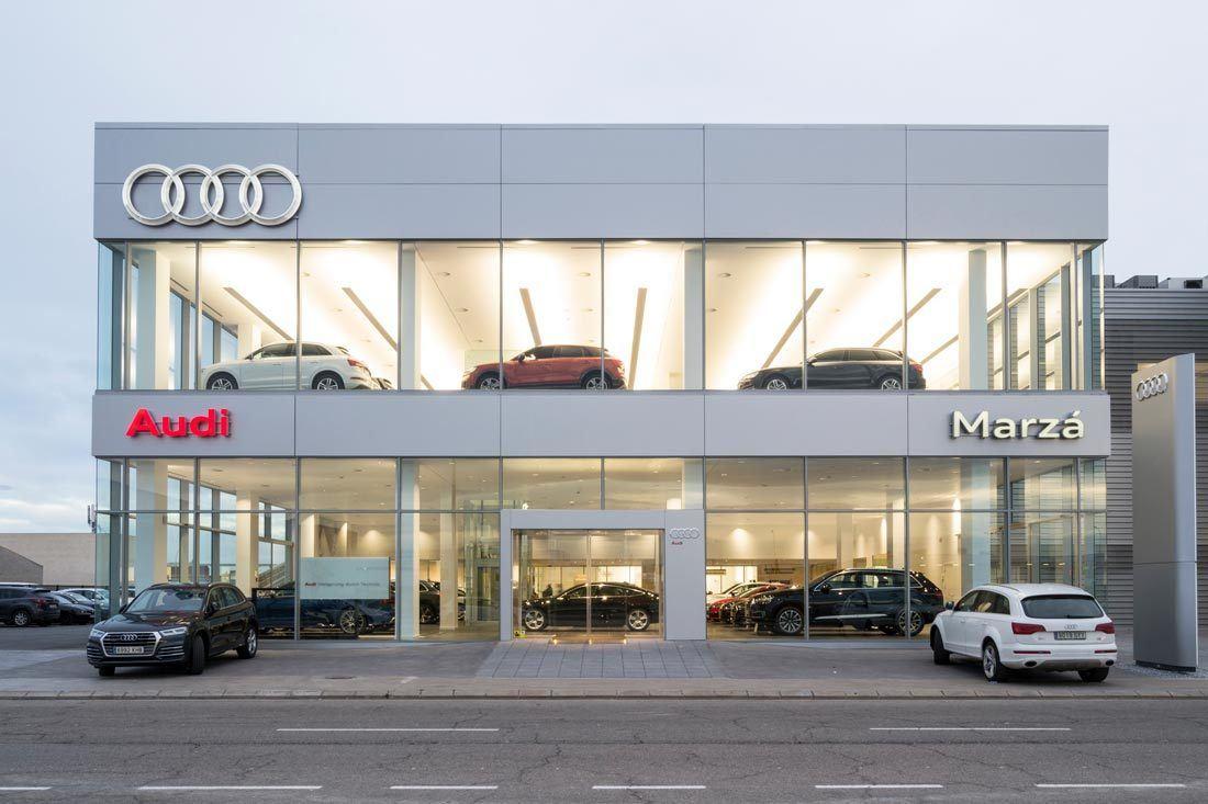 instalaciones Audi Marzá Castellón fachada mobiliario ofival