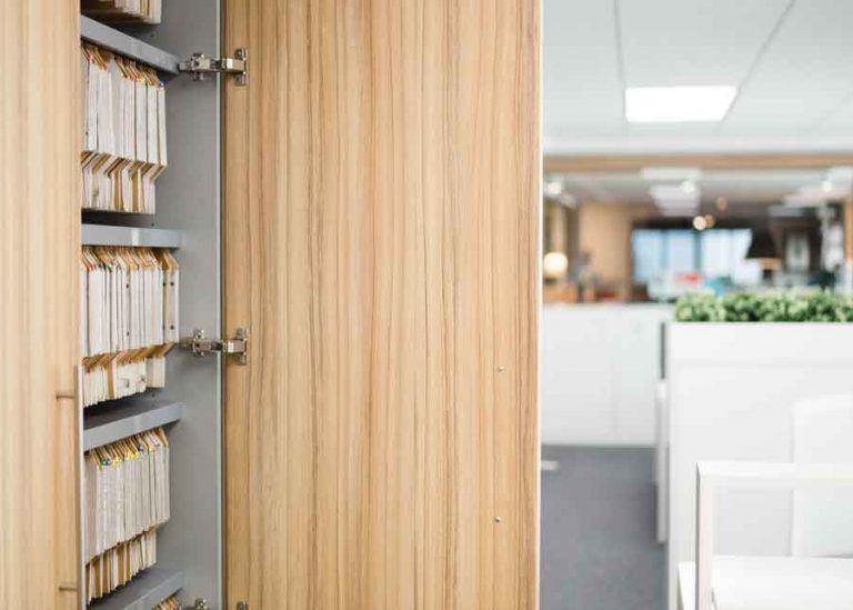 Tabique armario archivo