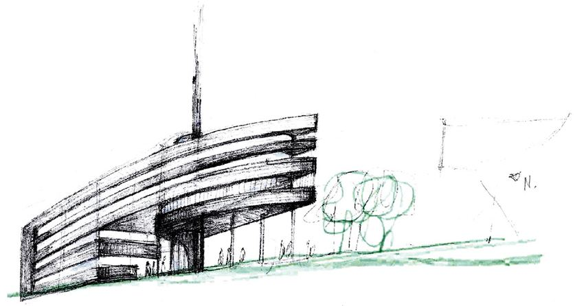 Boceto Parque Científico de la Universitat de València, Burjassot
