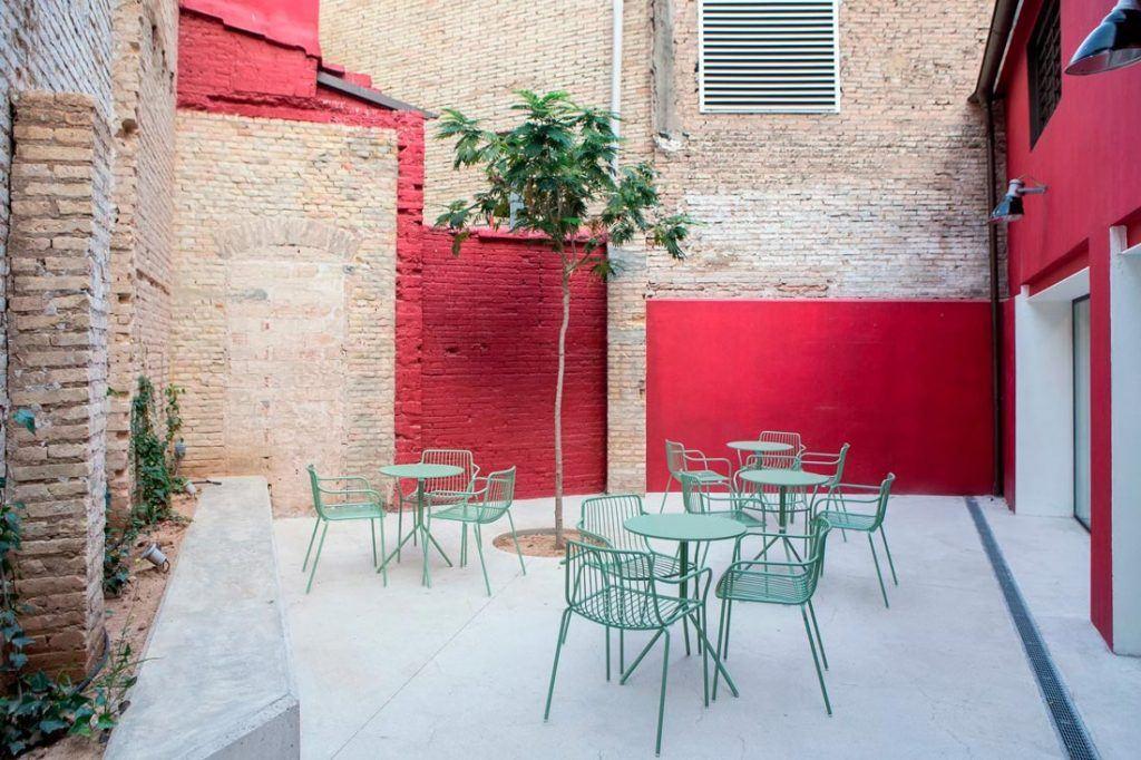 Terraza cafetería Wayco coworking Ruzafa