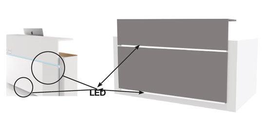 Iluminación led opcional