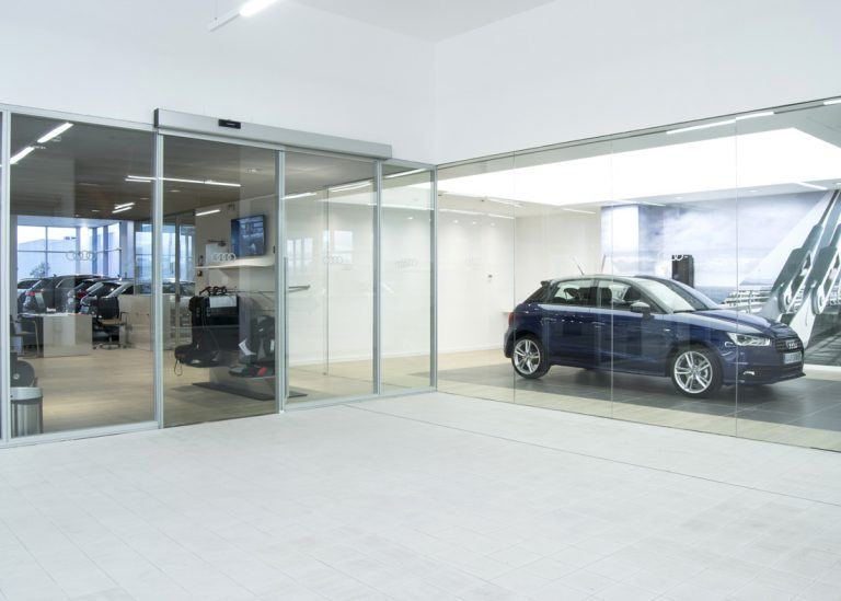mampara sistema vo Audi Marza
