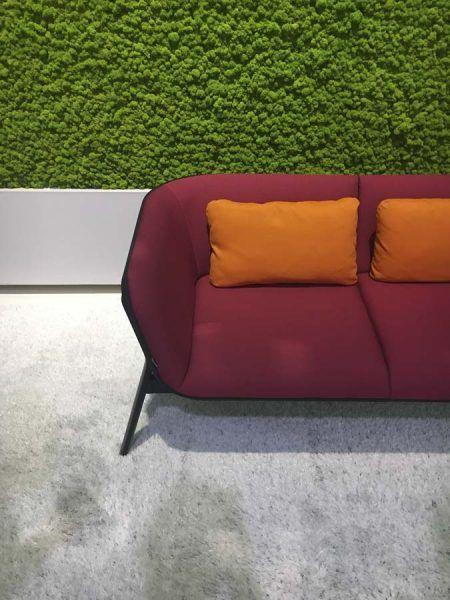 Sofás tapizados con tejidos transpirables