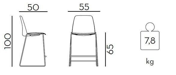 Medidas taburete Unnia G42