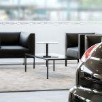 Recepción Porsche Valencia con Sofá Raglan