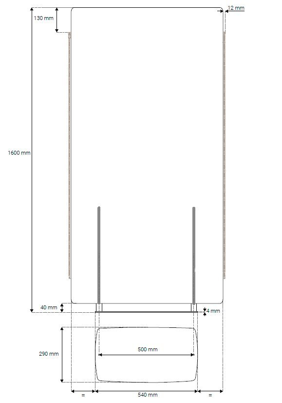 Medidas paneles separadores acústicos Madison