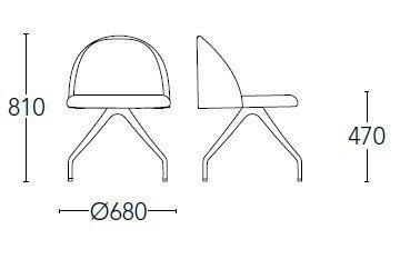 Medidas silla chelsea 700aGT