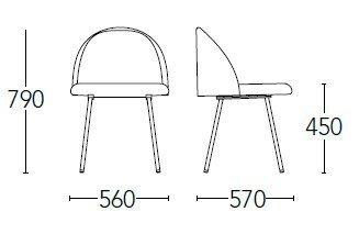 Medidas silla chelsea 700F