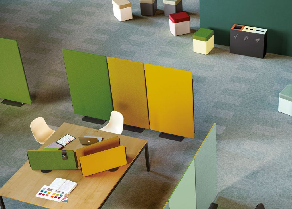 Paneles acústicos separadores Madison para espacios de oficina