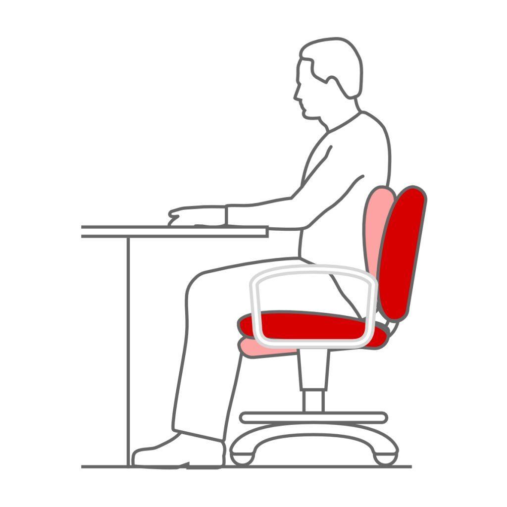 Sistema sincro en la silla de oficina