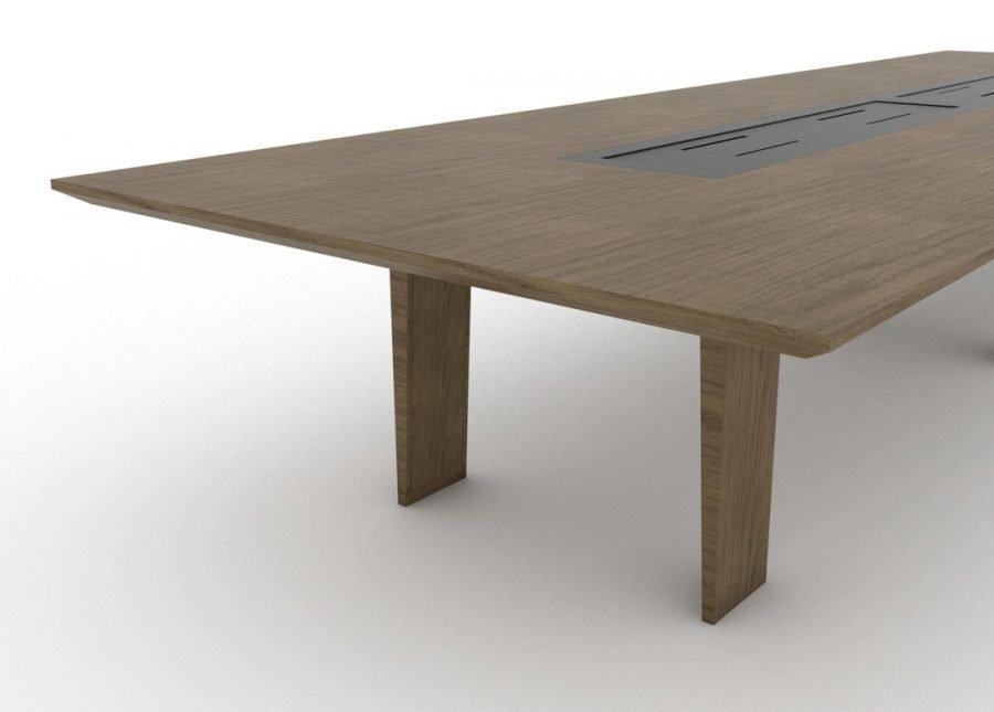 Mesa Senses reunión lateral madera