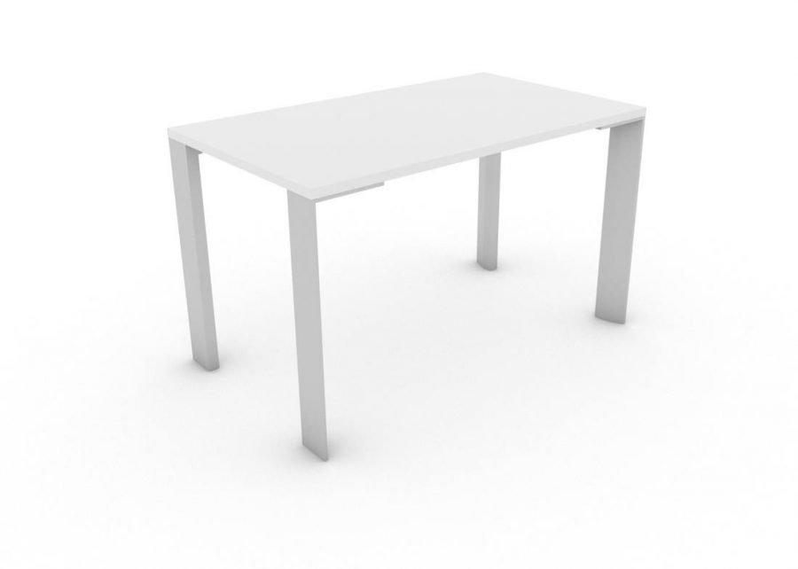 Mesa UM polivalente Aluminio Blanco