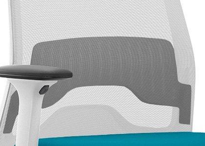 Soporte lumbar silla EVERYis1 EV251 blanca
