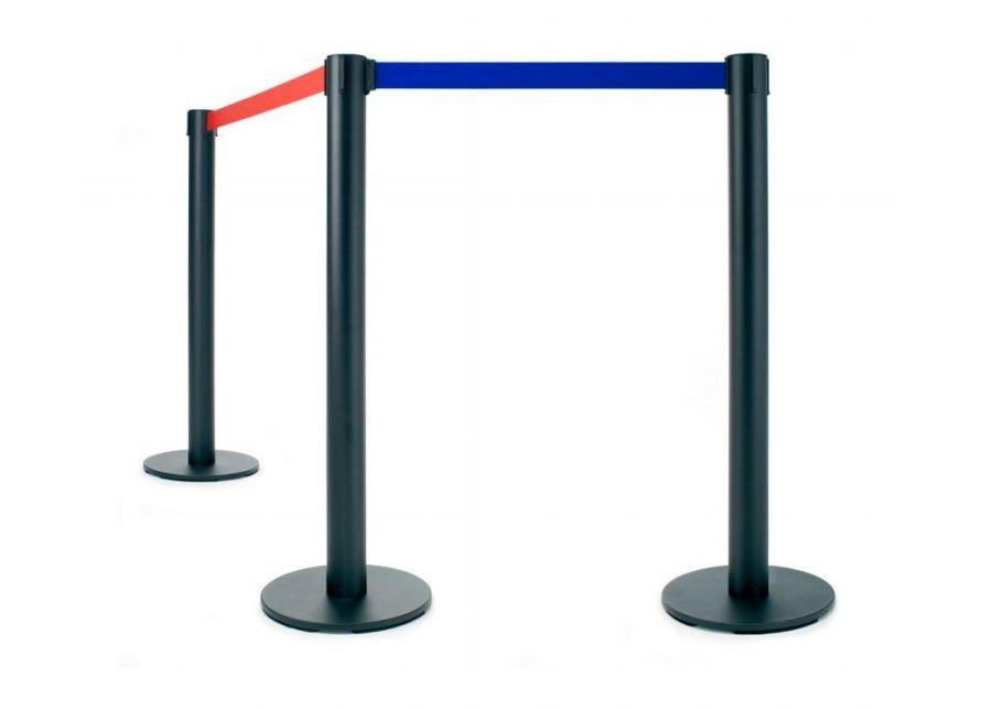Poste separador con cinta extensible