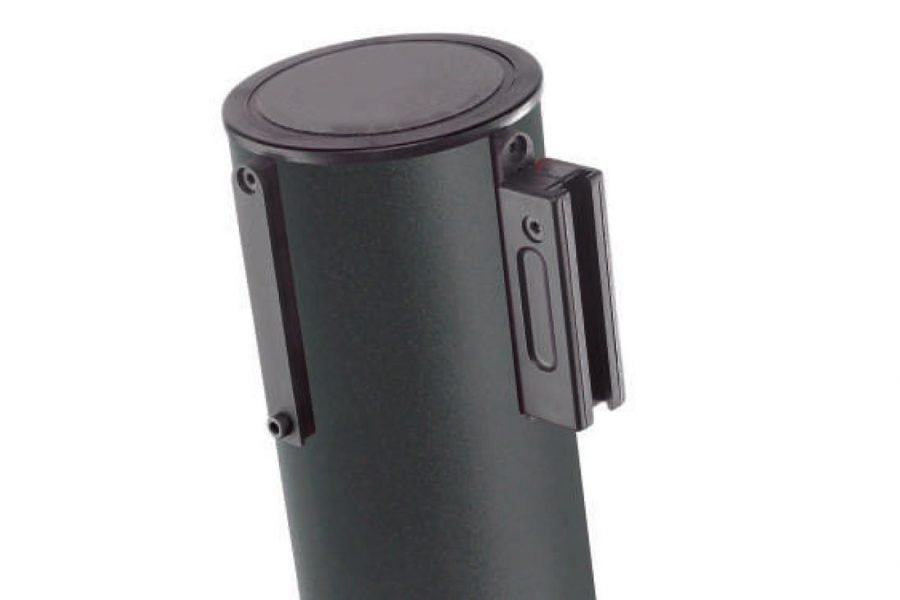 Poste separador con cinta extensible negro