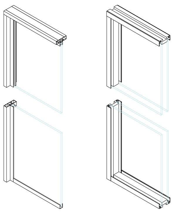 Secciones 1 y 2 vidrios mampara E80