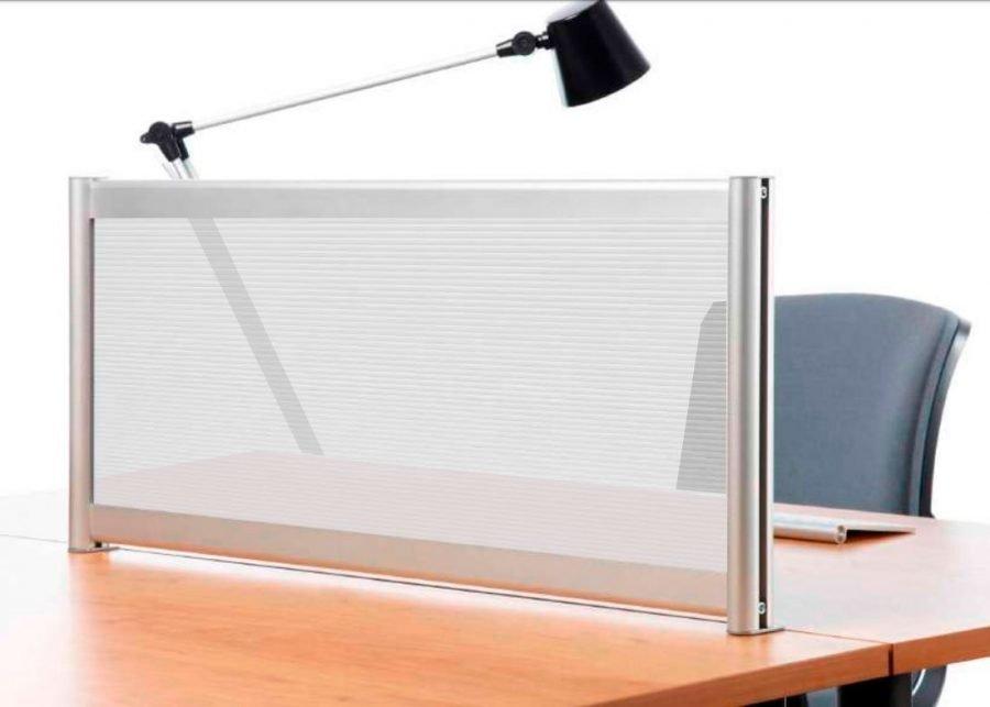 separador de mesa policarbonato transparente